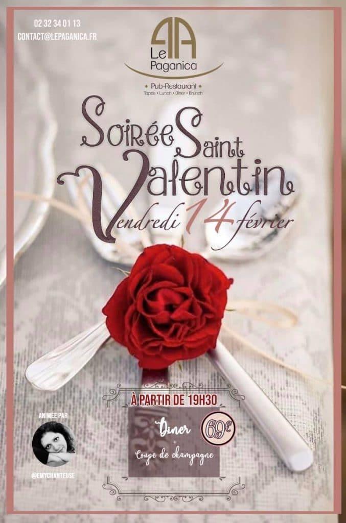 Affiche Saint Valentin au Paganica